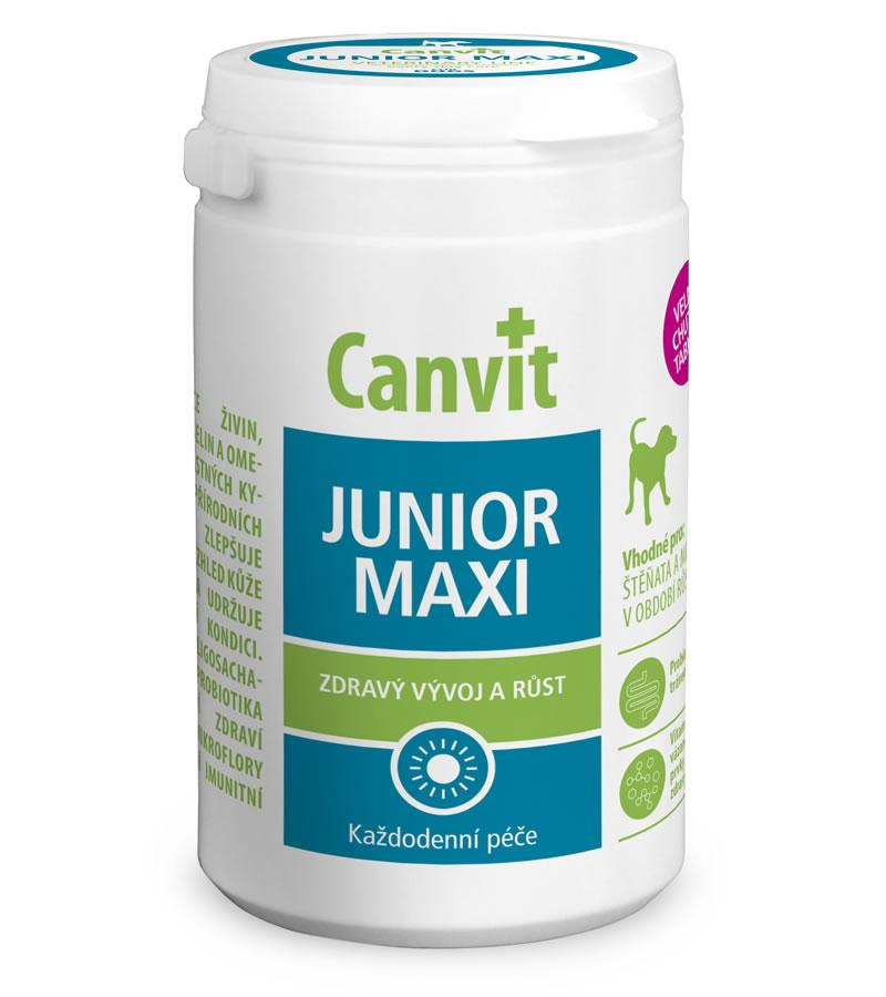 Витаминно-минеральный комплекс для щенков крупных пород Canvit Junior Maxi 76 табл.