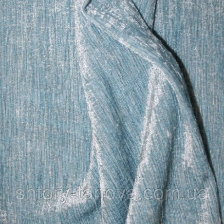 Шенилл однотонный голубой