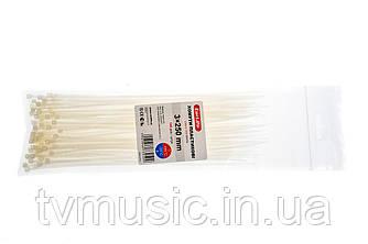 Хомуты пластиковые Carlife 3 x 250 mm (Белые)