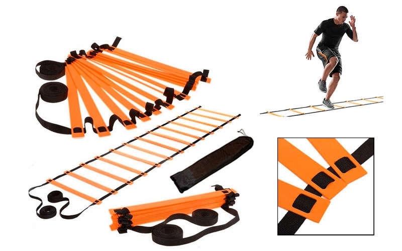 Координационная лестница дорожка для тренировки скорости 6м (12 перекладин) C-4606-OR