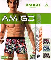 Трусы мужские боксеры Amigo хлопок + бамбук