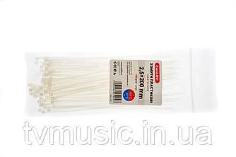 Хомуты пластиковые Carlife 2,5 x 200 mm (Белые)