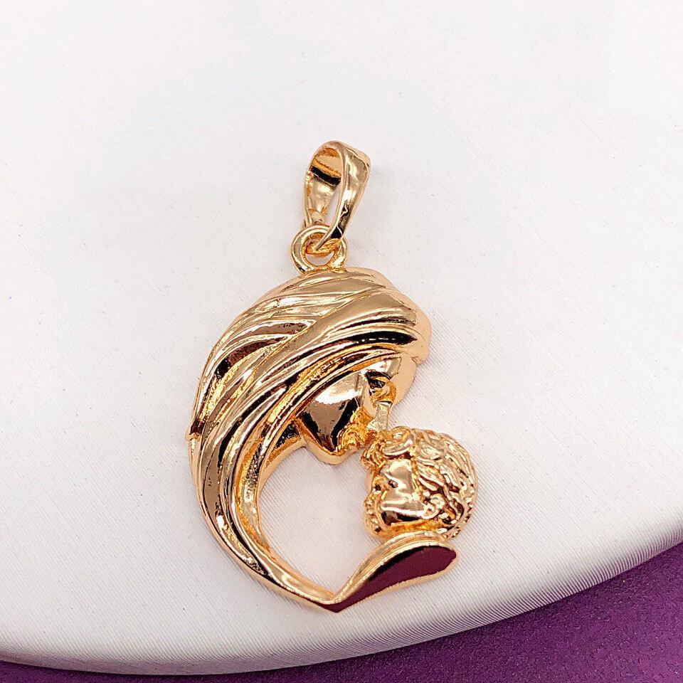 Подвеска Xuping Jewelry Мать с младенцем медицинское золото, позолота 18К. А/В 3392