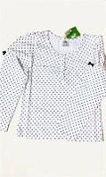 Блуза трикотажная Горошек Лежеко, 134 размер.
