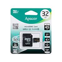 Карта Памяти Apacer MicroSD 32gb 10 class Цвет Чёрный