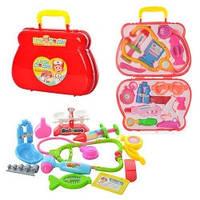 Детский набор доктора 1552AB в чемодане (12 инструментов)