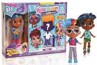 Новинка 2019 года! НАБОР 2 куклы Хэрдораблс девочка и МАЛЬЧИК Набор Just Play Hairdorables S1 Модная парочка