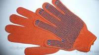 Перчатки Х/Б Оранжевая