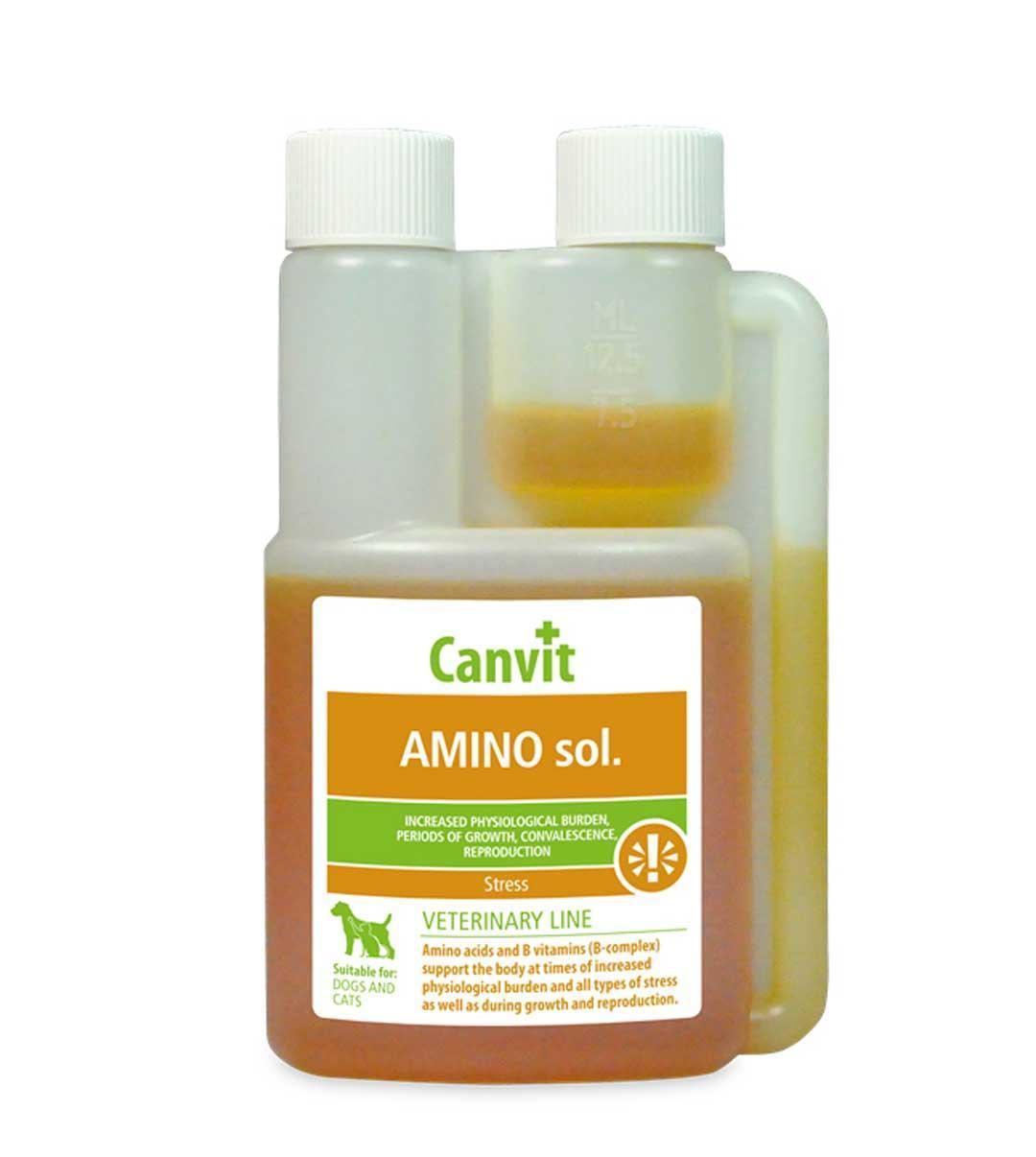 Аминосол імуномодулятор для всіх видів тварин Aminosol Canvit 250 мл