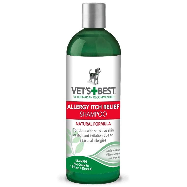 Шампунь для собак при аллергии, устраняет зуд и раздражения Vet's Best Allergy Itch Relief Shampoo 470 мл