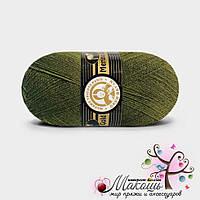 Пряжа Madame Tricote Paris Мерино голд, №077, хаки
