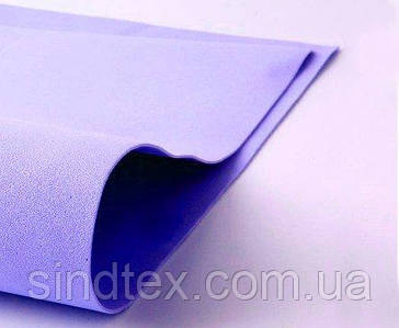 (1 лист) Фоамиран 1мм толщина (без клеевой основы) 29,5х20см Цвет - Сиреневый
