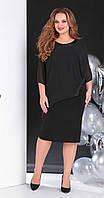 Платье Sandyna-13645/1 белорусский трикотаж, черный однотон, 62