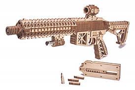 Штурмовая винтовка AR-T Деревянный 3D пазл Wood Trick (механический деревянный конструктор)