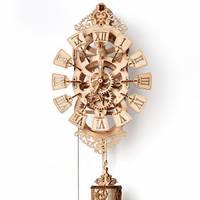 Маятниковые часы Деревянный 3D пазл Wood Trick (механический деревянный конструктор)