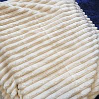 """Плед """" Шарпей""""  из бамбукового волокна (180х200) кремовый"""