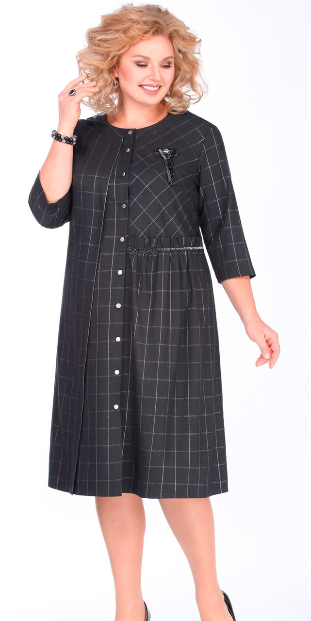 Платье Matini-31331 белорусский трикотаж, серый, 52