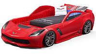 Кровать машина красная CORVETTE 127х257х61см step2, фото 1