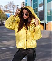"""Женская зимняя дутая куртка """"LORRES"""" с капюшоном"""