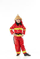 Детский карнавальный костюм Пожарный на рост 110-120 см
