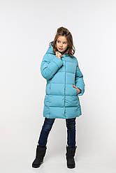 Теплое зимнее пальто без меха  на девочку  Микель  нью вери (Nui Very)