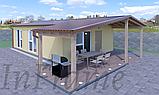 Модульный дом с террасой (64м2 + 20м2), фото 2