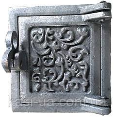 Дверка прочистная чугунная (сажечистка) на защелке (155 х 165 мм.)