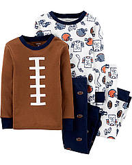"""Пижамы Carter's для мальчика 4 в 1 """"Регби"""" , детская пижама картерс 5Т/105-111 см"""