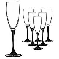 Набор бокалов для шампанского Luminarc Domino 170 мл 6 шт