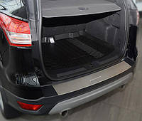 Накладка на бампер с загибом Ford Kuga II 2013- NataNiko Premium