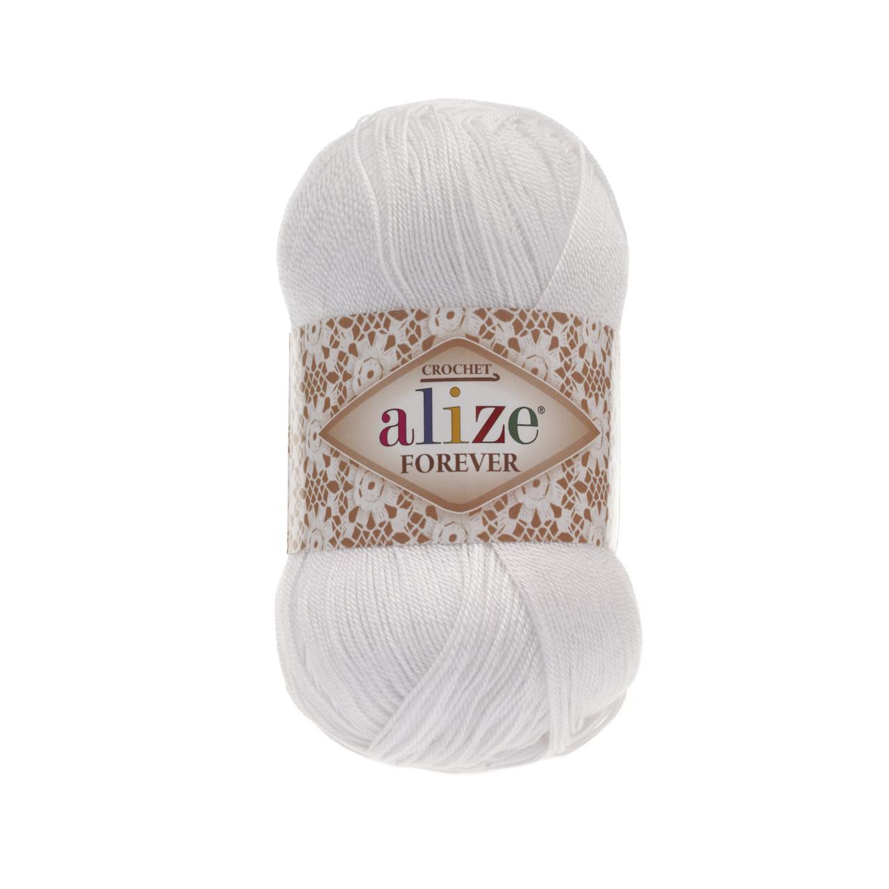 Пряжа Ализе Форевер Alize Forever, цвет №55 белый