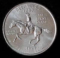 Монета США 25 центов 1999 г. Делавэр