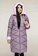 Пуховикженский зимний 48 размер - теплый модный женский пуховик умеренно-пурпурный