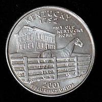 Монета США 25 центов 2001 г. Кентукки, фото 1