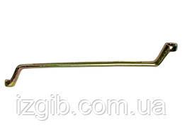 Ключ накидной СибрТех 17x19 мм желтый цинк
