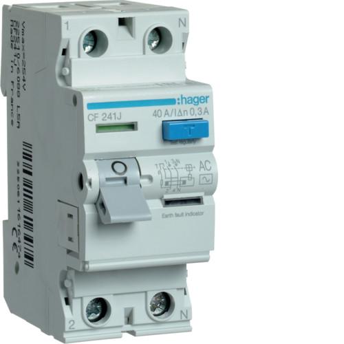 Устройство защитного отключения Hager (ПЗВ) 2P 40A 300mA AC (CF241J)