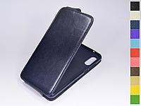 Откидной чехол из натуральной кожи для Huawei P20