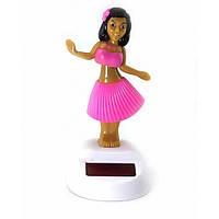 Гавайская девочка танцующая на солнечной батарее (Flip Flap) (10,5х6х6 см) ( 32823)