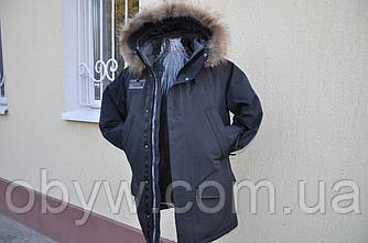 Польская куртка аляска - River, чёрная