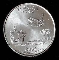Монета США 25 центов 2004 г. Флорида, фото 1