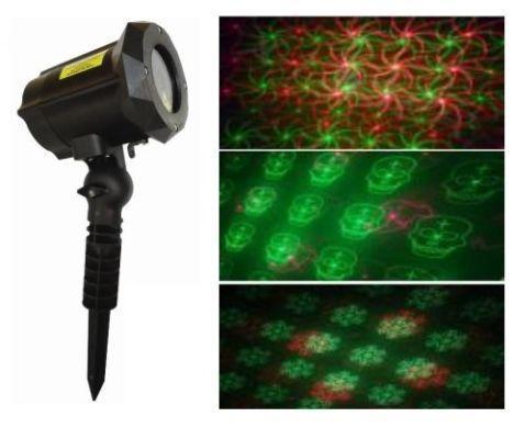 Уличный лазерный проектор RD-7188 (12 рисунков) / проектор лазерный для улицы