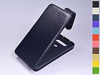 Откидной чехол из натуральной кожи для LG Q8