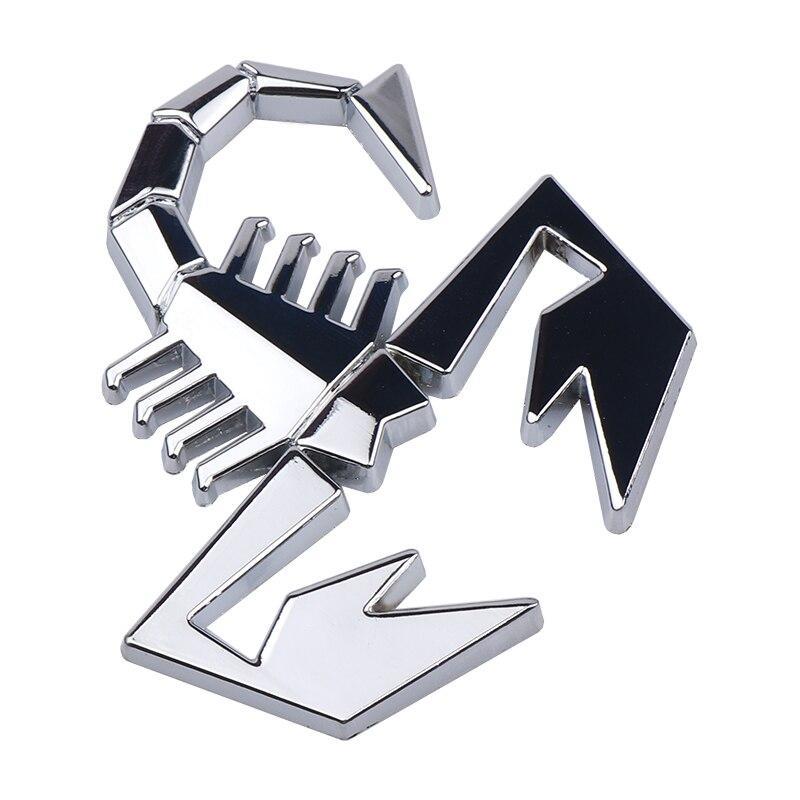3D эмблема Скорпион - хром  металл, фото 1