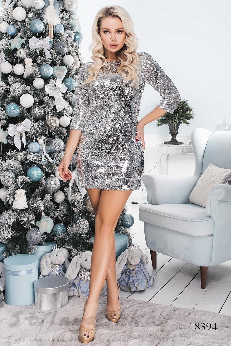 праздничное платье из паетки