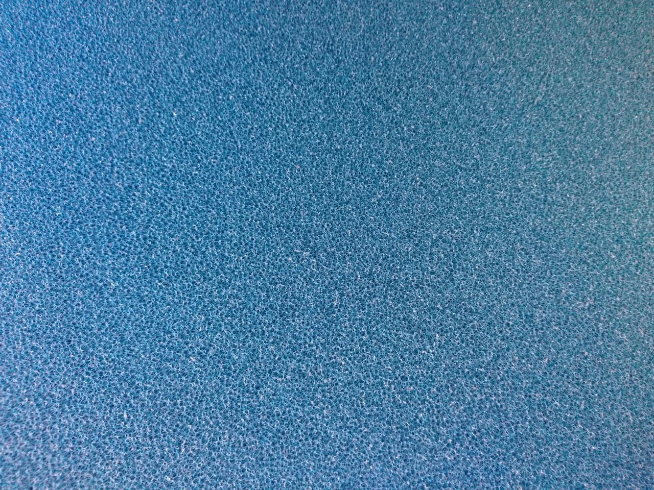 Мочалка синяя, лист (50*50*10)см, среднепористая