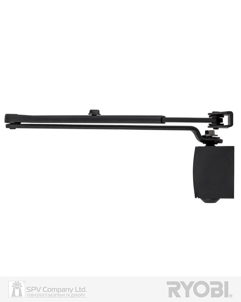 Дверной доводчик накладного типа RYOBI 1200 D-1200 BLACK STD_ARM EN_2/3/4 80кг 1100мм