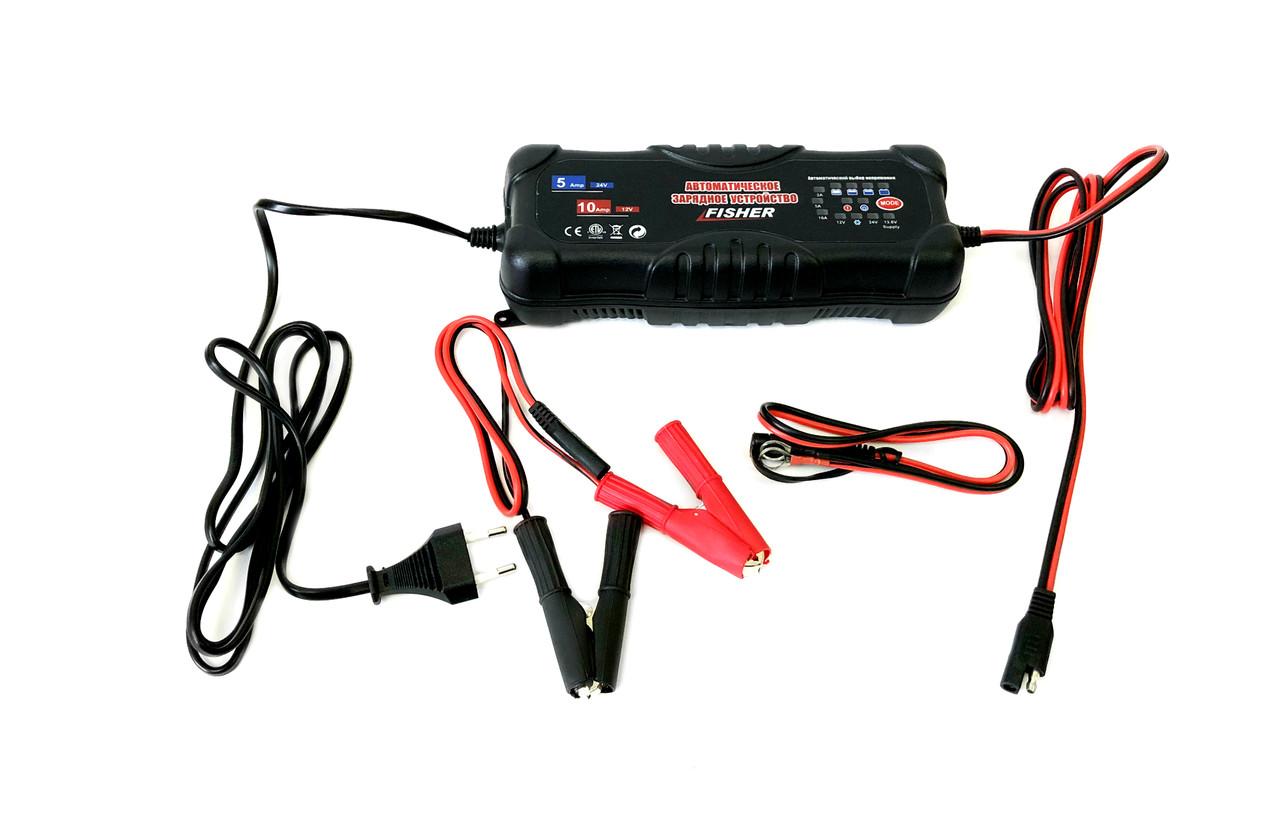 Зарядное для гелевых аккумуляторов 12/24V - Fisher 2/5/10А
