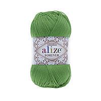 Пряжа Ализе Форевер Alize Forever, цвет №328 зеленый