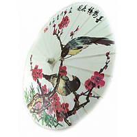 """Зонт бамбук с бумагой """"Птицы"""" (d-40 см h-30,5 см) ( 32806A)"""