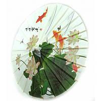 """Зонт бамбук с бумагой """"Рыбы"""" (d-40 см h-30,5 см) ( 32806)"""